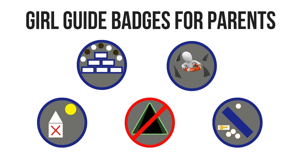 Girl Guide Badges for Parents